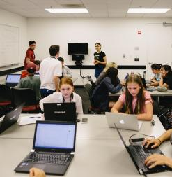 Students in Class at Summer at Stanford