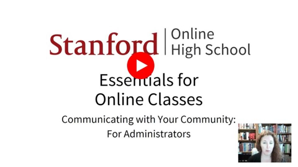 Essentials - Communicating with the community - administrators